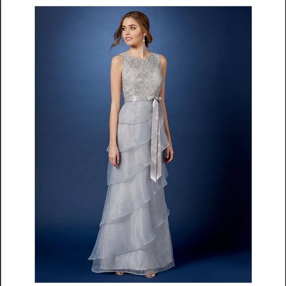 Adrianna Papell Dresses | Sleeveless Ruffle Tiered Gown | Poshmark